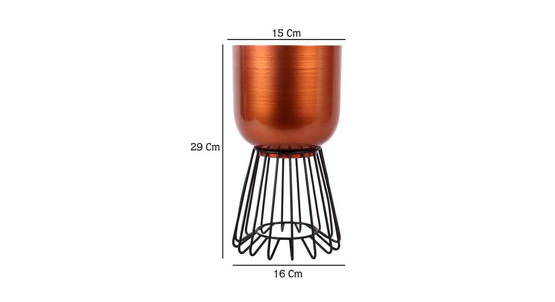 Kendal planter copper and black matte 6