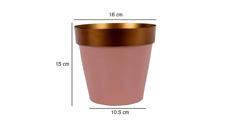 Hartley planter gold   pink 6