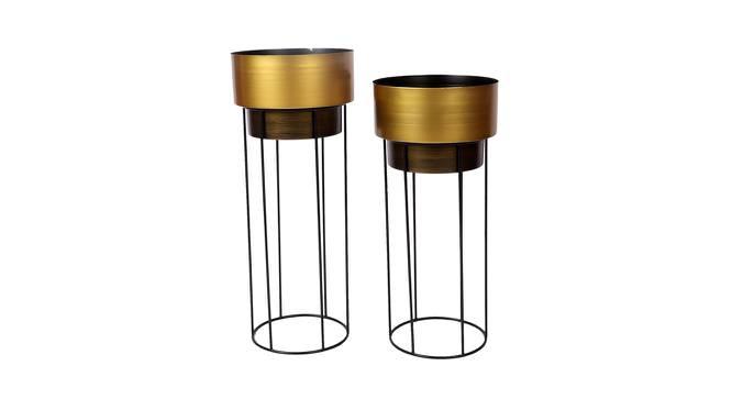 Brexton Planter Set of 2 (Gold,Copper & Matt Black) by Urban Ladder - Front View Design 1 - 388612