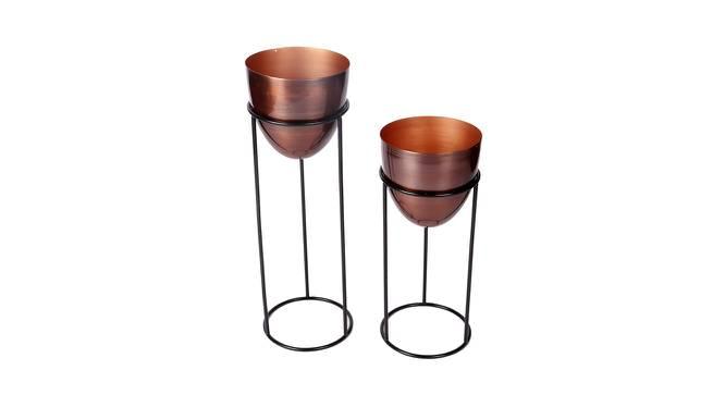 Zara Planter Set of 2 (Antique Copper & Matt Black) by Urban Ladder - Cross View Design 1 - 388658