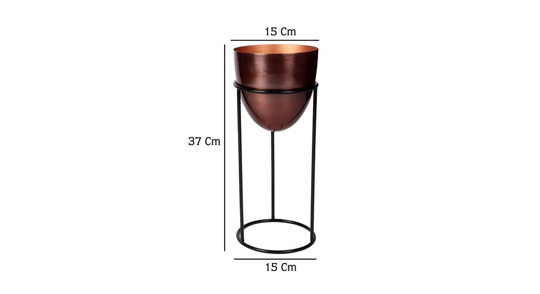 Zara planter set of 2 copper antique and matte black 7