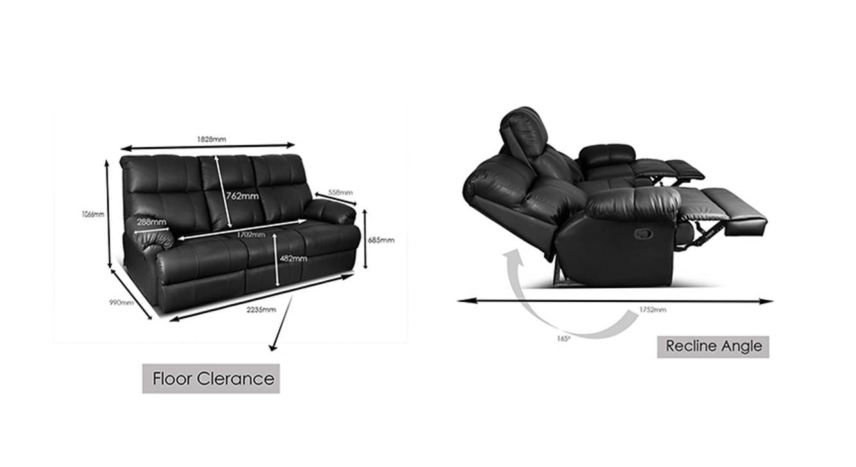 Isolde recliner black 7