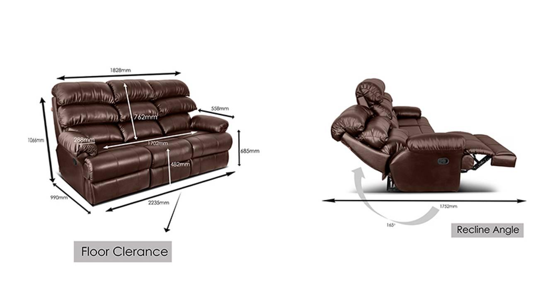 Grainne recliner brown 7