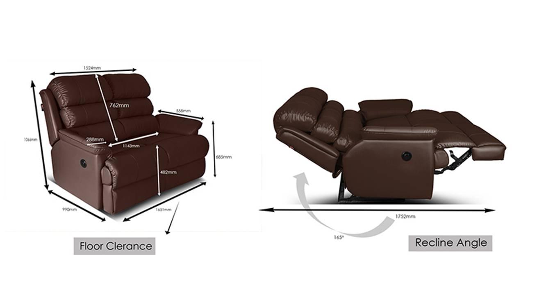 Amelia recliner brown 7