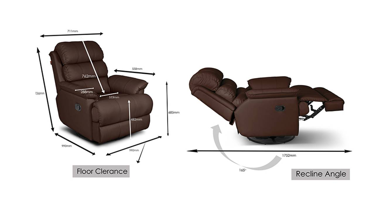 Oscar recliner brown 6