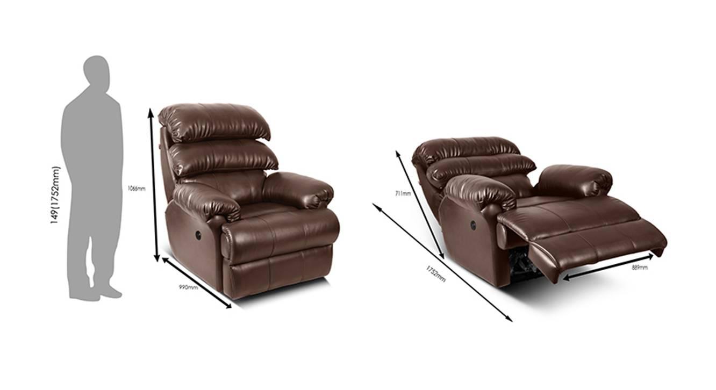 Nora recliner brown 7
