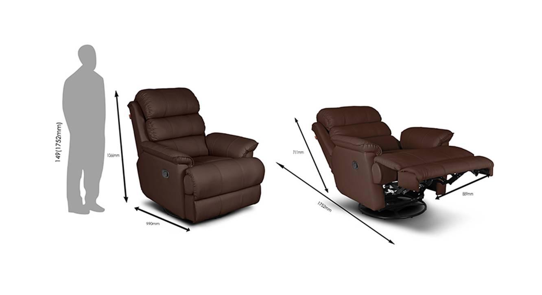 Oscar recliner brown 7