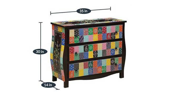 Chakrika Display Cabinet (Closed Configuration, Gloss Finish) by Urban Ladder - Dimension Design 1 -