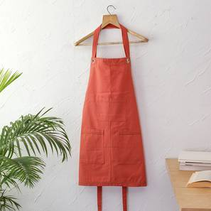 Barbecue Apron (Orange) by Urban Ladder - Front View Design 1 - 391915