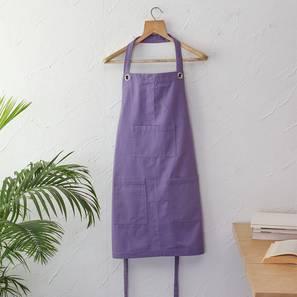 Meringues Apron (Purple) by Urban Ladder - Front View Design 1 - 392163