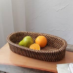 Miri Basket (Natural & Brown) by Urban Ladder - Front View Design 1 - 392420