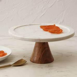 Panna Mian Cake Stand (White) by Urban Ladder - Front View Design 1 - 392430