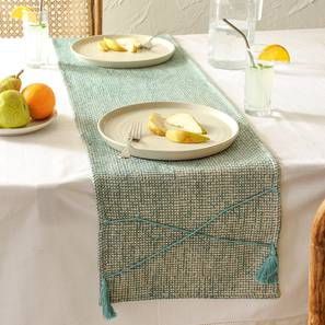 Raalhu Table Runner (Blue) by Urban Ladder - Front View Design 1 - 392216
