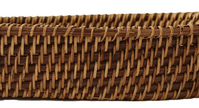 Miri Basket (Natural & Brown) by Urban Ladder - Cross View Design 1 - 392448