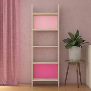 Helena Bookshelf cum Display Unit (Matte Laminate Finish, English Pink - Barbie Pink) by Urban Ladder - Cross View Design 1 - 392691