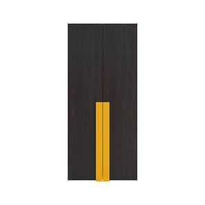 Evita Wardrobe (Matte Laminate Finish, Antique Ebony - Mango Yellow) by Urban Ladder - Cross View Design 1 - 392996