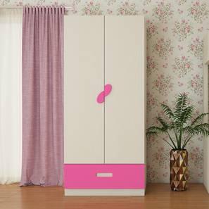 Emelia Wardrobe (Matte Laminate Finish, Light Wood - Barbie Pink) by Urban Ladder - Cross View Design 1 - 393215