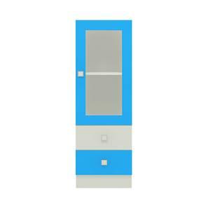 Regalia Bookshelf cum Storage Unit (Matte Laminate Finish, Azure Blue) by Urban Ladder - Cross View Design 1 - 393542