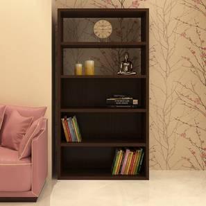 Cecelia Bookshelf cum Display Unit (Matte Laminate Finish, Coffee Walnut) by Urban Ladder - Cross View Design 1 - 393750