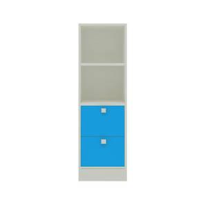 Kylee Bookshelf cum Storage Unit (Matte Laminate Finish, Azure Blue) by Urban Ladder - Cross View Design 1 - 393948