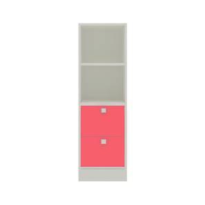 Kylee Bookshelf cum Storage Unit (Matte Laminate Finish, Strawberry Pink) by Urban Ladder - Cross View Design 1 - 393949
