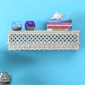 Hollye Wall Shelf (White, Wood Finish) by Urban Ladder - Front View Design 1 - 396745