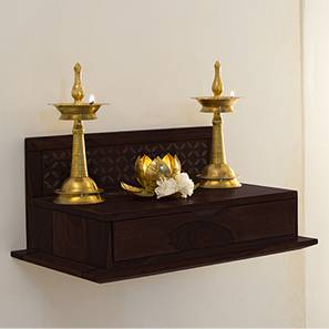 Devoto Prayer Shelf (Mahogany Finish) by Urban Ladder - - 39701