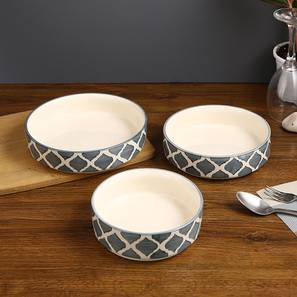 Carden Serving Bowl Set of 3 (Grey) by Urban Ladder - Front View Design 1 - 398148