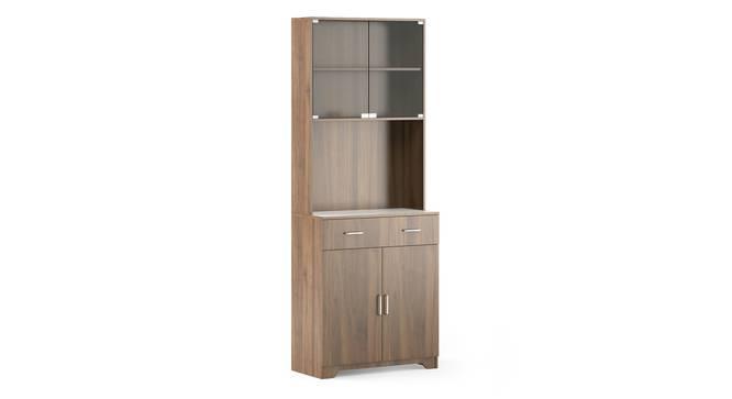 Hubert 4 Door Tall Display Cabinet (WARM WALNUT Finish) by Urban Ladder - Cross View Design 1 - 398834