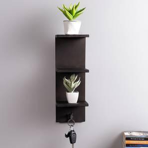 Hazal Wall Shelf (Black) by Urban Ladder - Front View Design 1 - 399884