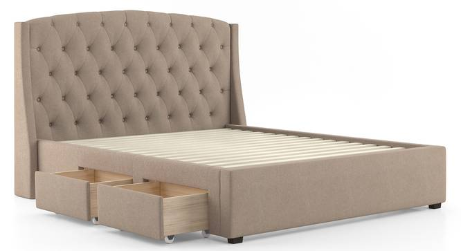 Aspen Upholstered Storage Bed (Queen Bed Size, Beige) by Urban Ladder - Cross View Design 1 - 402962