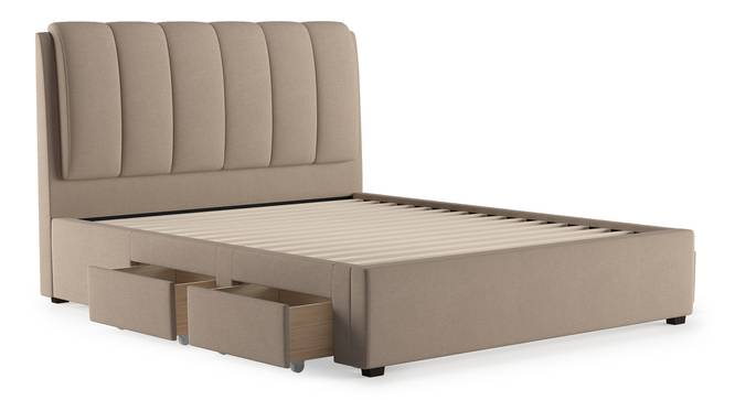 Faroe Upholstered Storage Bed (Queen Bed Size, Beige) by Urban Ladder - Cross View Design 1 - 403028