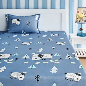 Calogera Bedsheet Set (Grey, Single Size) by Urban Ladder - Front View Design 1 - 406202