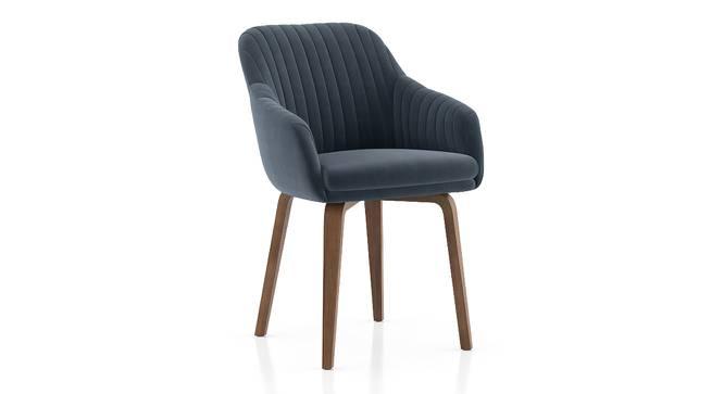 Rochelle Lounge Chair (Marengo Grey Velvet) by Urban Ladder - Cross View Design 1 - 406597