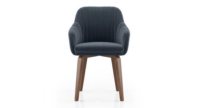 Rochelle Lounge Chair (Marengo Grey Velvet) by Urban Ladder - Design 1 Side View - 406598