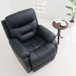 Isla Recliner (Black, One Seater) by Urban Ladder - Front View Design 1 - 408142