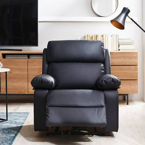 Jolie Recliner (Black, One Seater) by Urban Ladder - Front View Design 1 - 408143