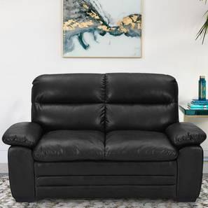 Azarios Loveseat (Black) by Urban Ladder - Front View Design 1 - 408147