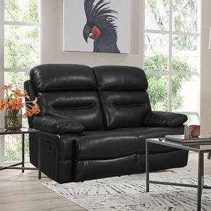 Layla Recliner (Black, Two Seater) by Urban Ladder - Front View Design 1 - 408237