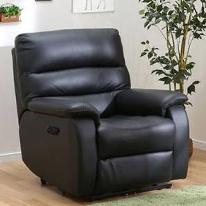Lola Recliner (Black, One Seater) by Urban Ladder - Front View Design 1 - 408239