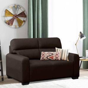 Niceson Loveseat (Brown) by Urban Ladder - Front View Design 1 - 408242
