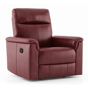 Barnes Recliner (One Seater, Barn Red) by Urban Ladder - Cross View Design 1 - 408767