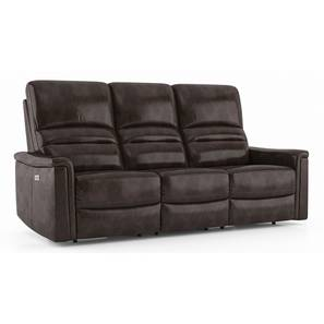 Laurence Motorized Recliner (Three Seater, Powdered Cocoa Brown) by Urban Ladder - Cross View Design 1 - 408839