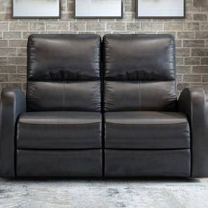 Dylan Recliner (Black, Two Seater) by Urban Ladder - Front View Design 1 - 408977