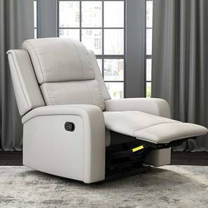 Jameson Recliner (Grey, One Seater) by Urban Ladder - Front View Design 1 - 409068