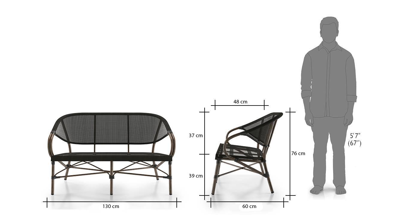 Cirali 2seater chair black 7