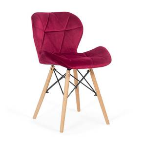 Amery Dining Chair (Red, Velvet Finish) by Urban Ladder - Front View Design 1 - 412513