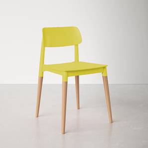 Tildon Dining Chair (Yellow, Plastic Finish) by Urban Ladder - Front View Design 1 - 413173