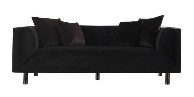 Clarkson Fabric Sofa(Black) (Black, 3-seater Custom Set - Sofas, None Standard Set - Sofas, Fabric Sofa Material, Regular Sofa Size, Regular Sofa Type)
