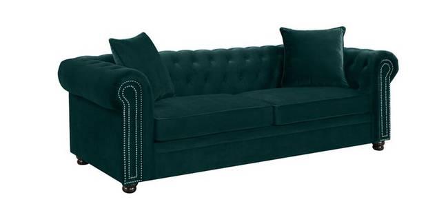 Larissa Fabric Sofa(Brown) (Brown, 3-seater Custom Set - Sofas, None Standard Set - Sofas, Fabric Sofa Material, Regular Sofa Size, Regular Sofa Type)